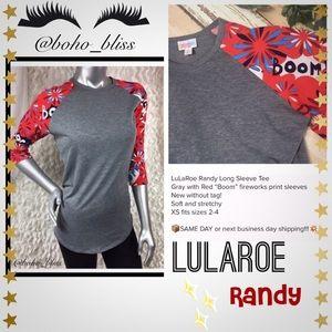🎀SALE🎀 LULAROE Randy Firework Print Top NWOT